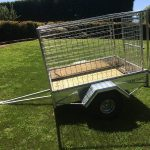 Accesories for trailers, single axle FARM Trailer for Quad/ATV with Stock Cage.