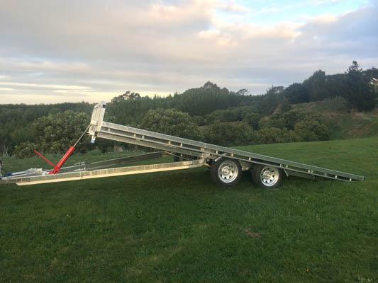 Tilting Flat Deck Tandem Axle Trailer