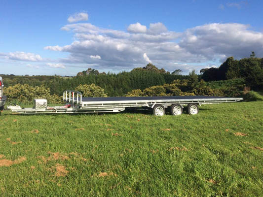 Tilting Flat Deck Triple Axle Trailer