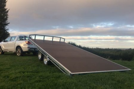 Tilting Flat Deck Tandem Axle Trailer